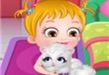 العاب بيبى هزل وقطته البيضاء