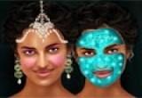 لعبة تنظيف وجه البنت الهندية اون لاين