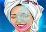 لعبة تنظيف وجه العروس من الحبوب الجديدة جدا