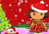 لعبة دورا وعيد الكريسمس السعيد